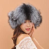 Wholesale Beautiful Women Furs - Women Has 2017 Beautiful Russian Hat Women Ladies Warm Rex Fox Fur Hat Female Winter Winter Hats For Men Fur Ushanka