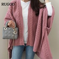 thick winter sweaters for women 2018 - RUGOD 2018 Autumn Winter Korean Sweater Cardigans for Women Causal Loose Cape Knitted Cardigan Feminino Long Knitwear Sweater