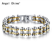 Wholesale bracelet rolo for sale - Group buy 2018 Men s Fashion Jewelry Rock Style Stainless Steel Personalized Locomotive Rolo Chain Bracelets Gifts For Man