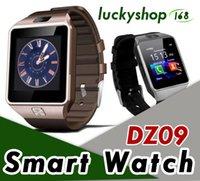 samsung cell support großhandel-100X martwatch 2018 neueste DZ09 Bluetooth Smart Watch Unterstützung SIM Karte für Apple Samsung IOS Android Handy 1,56 Zoll Smartwatches DHL