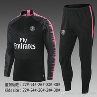 Wholesale asymmetric chiffon - 2018 NEYMAR JR DI MARIA CAVANI training suit tracksuit kids soccer psg Jerseys kit paris top GRIEZMANN chandal jogging football jacket