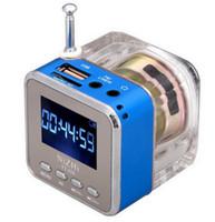 yüksek usb müzik çalar toptan satış-Mini Taşınabilir LCD MP3 Çalar usb mp3 modülü Hoparlör Loud Subwoofer Müzik Çalar Destek TF Kart USB FM Radyo Ile
