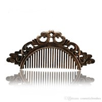 Wholesale Sandalwood Carvings - Mybasy New 1PCS Natural Chinese traditions Sandalwood combs Double-sided carved anti-static vintage hair handmade massage comb