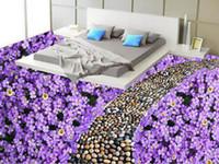 pisos de vinilo moderno al por mayor-Diseño de papel tapiz moderno Piso Baldosa de vinilo Sala de estar Papel tapiz 3d Piso Piedras de huevo Pisos 3d Cocina Vinilo Papel tapiz