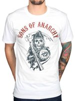 Wholesale motor t shirts - Official Sons Of Anarchy Reaper Flag Colours T-Shirt MC Motor Cycle Club Teller