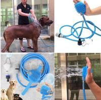 Wholesale Pet Supplies Wholesaler - pet Bath Shower Water Sprayer Pets Supplies Bathing Cleaner Tools Cleaning Massage Scrubber Sprayer Hand Massage Pet comb KKA4436