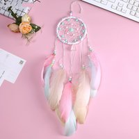 Wholesale folk art christmas online - Ring Maiden Heart Soft Room Colorful Floating Wind Chime Dream Catcher Small Gift Hanging Decoration Christmas Decor xr gg