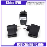 cargador carga electrónica al por mayor-Enchufe del zócalo de la carga de la energía del cargador US / EU / AU del cigarrillo para el teléfono móvil MP3 del cigarrillo de EGO e