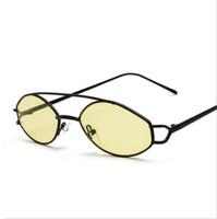 laranja, moldado, óculos venda por atacado-Óculos de sol das mulheres pequeno quadro ouro orange aço inoxidável oval óculos de sol para homens retro metal frame uv400 unisex