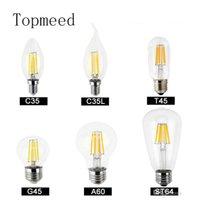 ingrosso bulbi di globo-Lampadine a led dimmerabili Lampadina a filamento 4w 8w 12w 16w Lampadina globo di vetro ad alta potenza 110 V 220 V 240 V Retro lampada a led Edison luci di candela