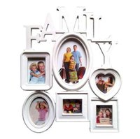 Wholesale family wall picture frames - New Collage Picture Frame 6 Openings Family Hanging Picture Frame Photo Frame For Wall Decor Gift To Family