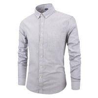 camisa causal do vestuário dos homens venda por atacado-Slim Fit Camisa de Manga Longa dos homens Europeus Negócios Causal Border Camisa de Alta Qualidade Do Casamento Noivos Camisas