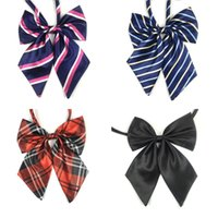 Wholesale clear costumes for sale - Group buy Printed Bow Ties Fashion Women Adjustable Tie Polyester Filament Stripe Dot Pattern Cravat For Student Flight Attendant ry BB