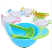 Wholesale Vegetables Baby - Baby Food Grinding Bowl Supplement Fruits and Vegetables Masher Bowl Baby food grinder baby Food Masher LJJK1024
