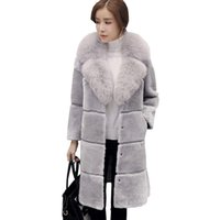 Wholesale Haining Fur - 2017 winter new wool shearing velvet fur coat Haining long female imitation fox fur coat was thin