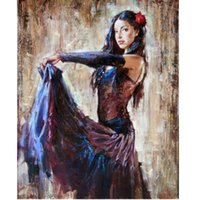 Wholesale paintings impressionism resale online - Wall Art impressionism Portraits oil painting Dance girl pictures on canvas x36 quot home decoration