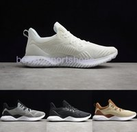 Wholesale alpha leather - New AlphaBounce Beyond High marbles shark gills outsole Running Shoes Black Grey White Alpha Khaki bounce jogging shoes Eur 36-45