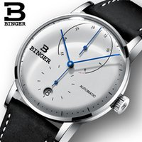 relógios mecânicos dos homens do binger venda por atacado-Suíça BINGER Relógios Masculinos Top Marca de Luxo Homens Mecânicos Automáticos Assista Safira Masculino Japão Movimento reloj hombre