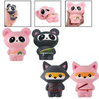 Wholesale kawaii panda - Kawaii Ninja Squishy Panda Slow Risinig Super Soft Jumbo Squeeze Phone Charms Stress Reliever Kids Gift