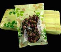 sacs ziplock livraison gratuite achat en gros de-Vert impression beau sac en plastique Ziplock sac de stockage des aliments Sac de conditionnement en plastique Zipper Snacks sacs Livraison gratuite