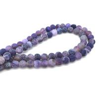 cuentas sueltas de bambú al por mayor-Mezcla de color degradado de piedra natural Agat Beads 6/8/10 mm granos flojos redondos bolas de bolas para DIY joyería que hace encontrar accesorios