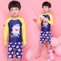 Wholesale Wholesale Board Shorts Clothing - Summer Boys Swimwear Baby Boy Clothes Two-pieces Swimsuit Summer Beach Children Clothing Printed Boys Shorts Kids Board Shorts M113