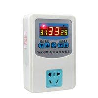 interruptor digital do termostato do controlador de temperatura venda por atacado-1000/2000 W controle de temperatura termostato digital Controlador com soquete do interruptor Função de controle de tempo 1 M sonda Magnética