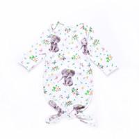 bebek kozası uyku tulumu toptan satış-Ins Yeni Bebek Bebek Karikatür Tembellik Fil Kundaklama Uyku Tulumu Yenidoğan Bebek Erkek Kız Bebek Pamuk Koza Uyku Çuval T14086