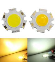fuente de luz led 3w al por mayor-10 UNIDS COB 3W led maz Fuente de Luz chip 300mA Lado 11 MM Spot Lights Chip On Board bombilla Lámpara de techo proyector ILUMINACIÓN conductor