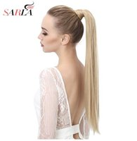 Wholesale straight brown clip ponytail for sale - Group buy 2018 quot quot Wrap Synthetic Ponytail Hair Extension Pony tail Hair Clip Flase Hairpiece Hairing Tail