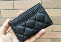 credito del logo al por mayor-NUEVO! Moda clásica Mini Wallet con soporte famoso logotipo negro PU bolso de la tarjeta titular Monedero de lujo regalo VIP