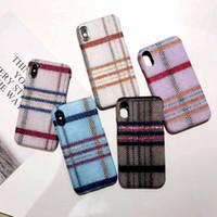 capa de lã do iphone venda por atacado-Yunrt casos de telefone grade de pano de lã de luxo para apple iphone x 8 7 6 6 plus grade moda bonito tampa traseira macia 7 casos para iphone