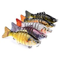 Wholesale 5 color cm g Multi section Fish Plastic Hard Baits Lures Fishing Hooks Fishhooks Hook Artificial Bait Pesca Fishing Tackle