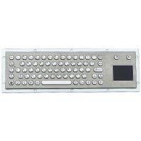 panel paslanmaz çelik toptan satış-66 tuşları düğmeler Altıgen klavye tuş su geçirmez metal kiosk paslanmaz çelik panel klavye touchpad veya siyah elektrolizle renk