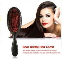 boar brush hair bristles toptan satış-Abody Saç Fırçası Profesyonel Kuaför Malzemeleri hairbrush Combo arapsaçı saç tarak için Fırçalar Domuzu Kıl Fırça saç Araçları