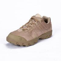 low heel kampfstiefel großhandel-Outdoor Desert Tactical Boots Echtem Leder Schuhe Für Mann Kampfstiefel Outdoor Bergschuhe Low-Heel Wanderschuhe
