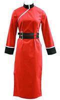 Wholesale kagura cosplay online - GINTAMA Cosplay Kagura Costume Womens Red Cheongsam th