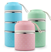 Wholesale Metal Lunch Boxes - Cute Lunch Box Japanese Bento Box Leak-Proof Stainless Steel Lunch Boxes for Kids Children Adults Office School Students Camping