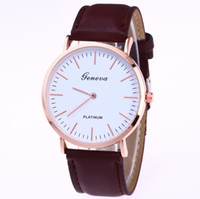 Wholesale ladies first - Wholesale - Cross-border explosions first-hand sources Geneva waterproof leather two-pin thin ladies watch female models