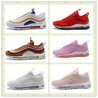 Wholesale Purple Se - Men Women 97 SE Bullet Summer Vibes Ultra Shoes Cheap Red Pink Outdoors Trainers Sneakers With Boxes Size US5.5--11 Hot Sale