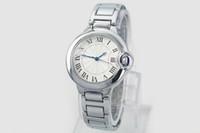diamantmarkenuhr für damen großhandel-Marken-Auto-Ballon-Luxusuhr-Dame Silver Stainless Steel Watches Diamond Wristwatch Womens Bracelet Watch Freies Verschiffen