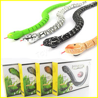 Wholesale Remote Control Snakes - New Funny Gadgets Toys Novelty Surprise Practical Jokes RC Machine Remote Control Snake toy And Interesting Egg Radio Control kids toys