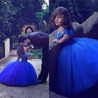 ingrosso abiti da sposa tutu per i bambini-2019 Said Mhamad Sweet Princess Flower Girl Dresses per Wedding Ball Gown Tutu con cristalli Toddler Little Girls Pageant Comunione Dress