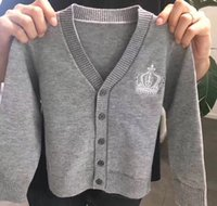 Wholesale Children Wool Sweater - irls Coat Warm Kids Girl Knit Cardigan Buttons Toddlers Girl Sweater Jacket Outerwear Children Clothing Baby Tops boys Coats