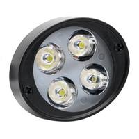 ingrosso accessori per faro-2Pcs / Set Faro moto 4 LED Faro moto Faretto DC 12V-85V Accessori moto Lampada Super Bright Assist