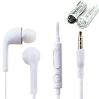 ingrosso controllo auricolare del mic del microfono a distanza-3,5 millimetri in-ear stereo J5 Cuffia con volume del Mic telecomando microfono auricolari di buona qualità per Samsung S4 S5 S6