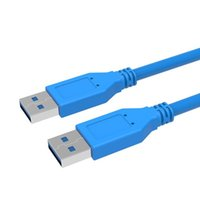 Wholesale webcam cable for sale - Group buy Top Quality Fast Speed USB Type A Male to Type A Male Extension Cable USB Cable for Radiator Webcam Car MP3 Camera