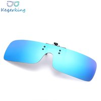Wholesale clip night vision goggle for sale - Group buy UV400 Polarized Lens Myopia Clip On Sunglasses Men Women Brand Designer Night Vision Clip On Sun Glasses Flip Up Mirrored ZB