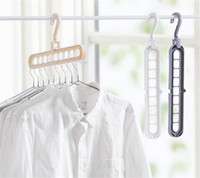 ingrosso vestiti da guardaroba-Home Storage Organizzazione Appendiabiti Stendino Sciarpa in plastica Appendiabiti Appendiabiti Rack Armadio