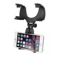 rückspiegel großhandel-Einstellbare Auto Auto Rückspiegelhalterung Handyhalter Halterung Steht für Samsung Xiaomi Huawei für iPhone Handy GPS